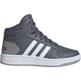 Szare Buty adidas Hoops Mid 2.0 Jr EE6709