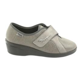 Befado obuwie damskie pu 032D003 szare