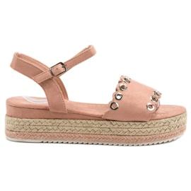 Nio Nio Sandały Na Platformie różowe
