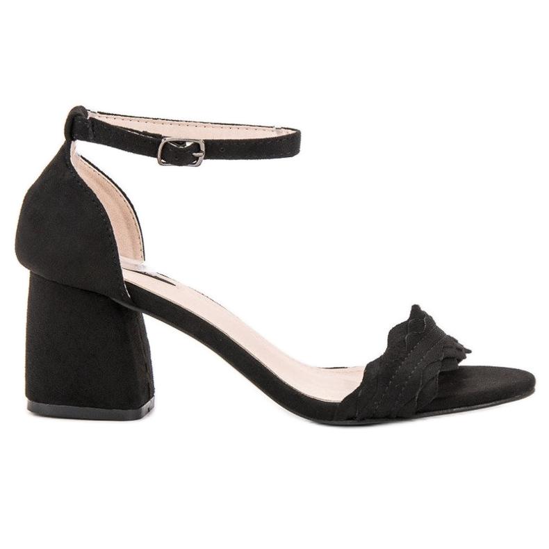 Sandałki Na Słupku VICES czarne