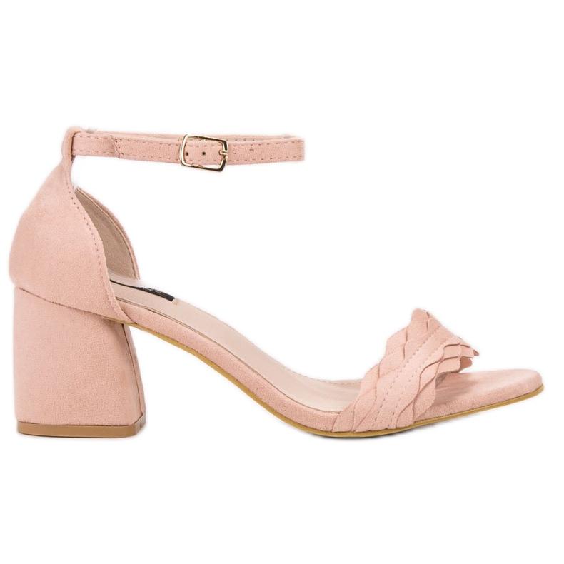 Sandałki Na Słupku VICES różowe
