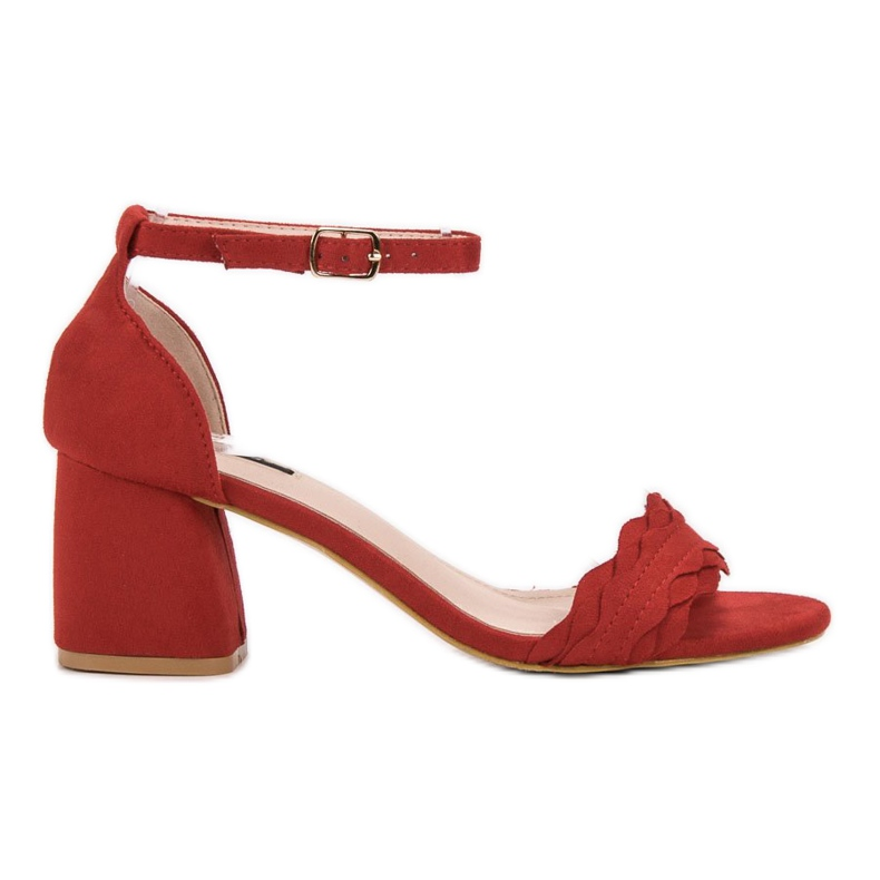Sandałki Na Słupku VICES czerwone