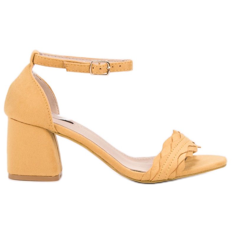 Sandałki Na Słupku VICES żółte