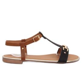 Sandałki damskie czarne 127-97 Black