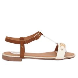 Sandałki damskie białe 127-97 White