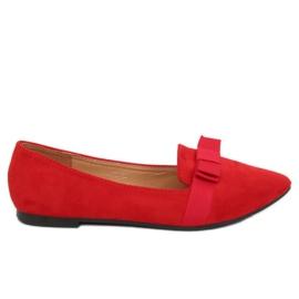 Balerinki damskie czerwone 8F59 Red