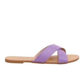 Klapki damskie fioletowe 930 Purple