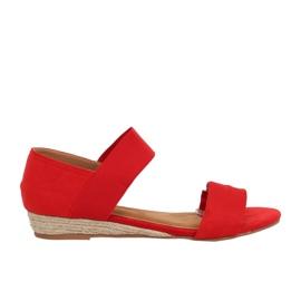 Sandałki espadryle czerwone 9R71 Red