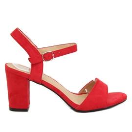 Sandałki na słupku czerwone FH-3M25 Red