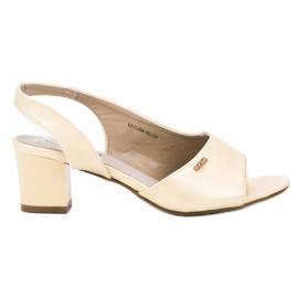 Goodin żółte Eleganckie Wsuwane Sandały