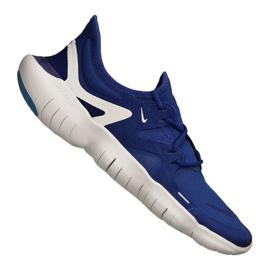 Niebieskie Buty biegowe Nike Free Rn 5.0 M AQ1289-401
