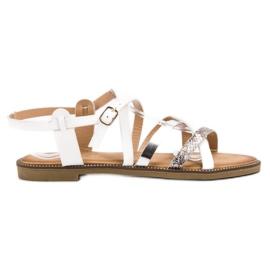 Bestelle Białe Sandały Damskie