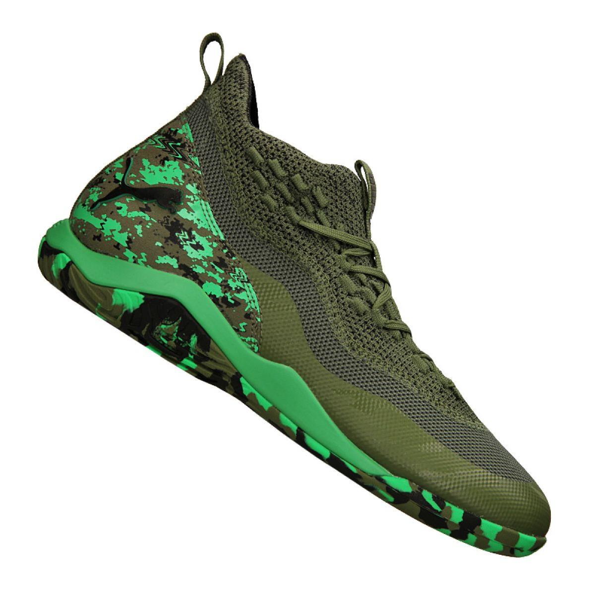 Buty halowe Puma 365 Ignite Fuse 1 M 105514 01 zielone zielony