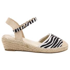 Best Shoes Espadryle Na Koturnie