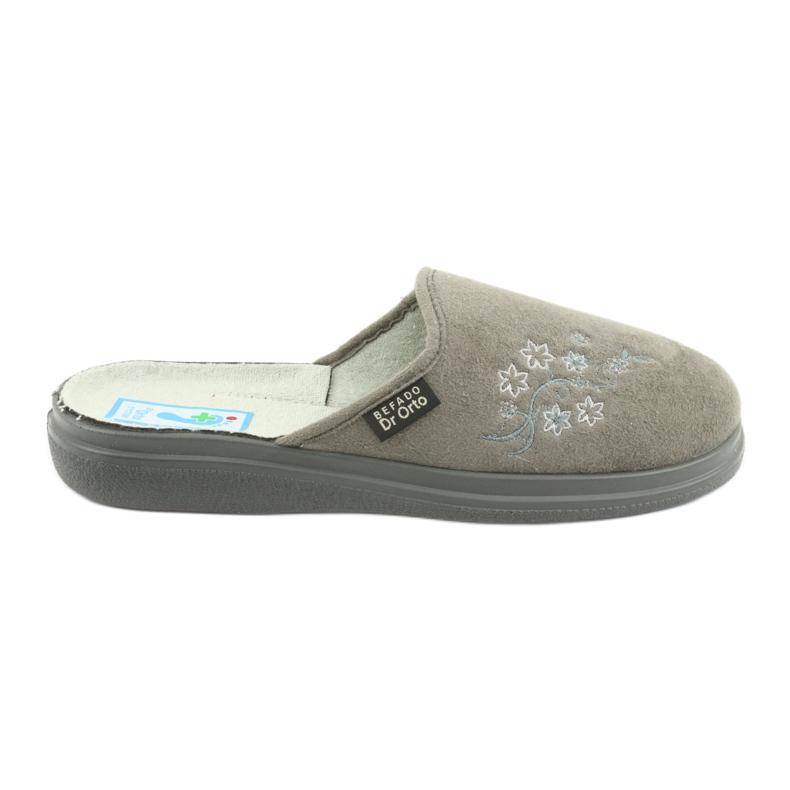 Szare Befado obuwie damskie  pu 132D013