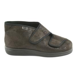 Befado obuwie damskie  pu 986D007 brązowe