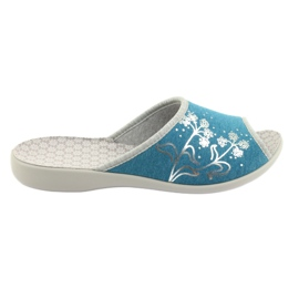 Befado obuwie damskie pu 254D102 niebieskie