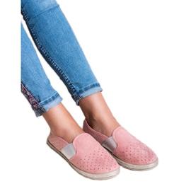 Mckeylor różowe Zamszowe Slipony