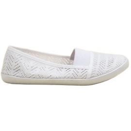 Mckeylor białe Tekstylne Baleriny