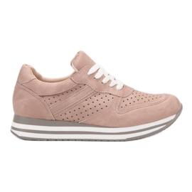 Kylie różowe Buty Sportowe Z Eko Skóry