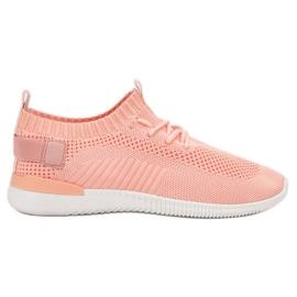 SHELOVET różowe Łososiowe Buty Sportowe