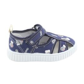 American Club American buty buty dziecięce na rzepy wkładka skórzana