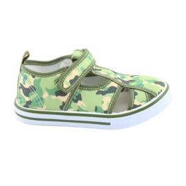 American Club buty dziecięce na rzepy zielone moro TEN 27/19
