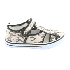 American Club buty dziecięce na rzepy wkładka skórzana