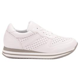 Kylie białe Buty Sportowe Z Eko Skóry
