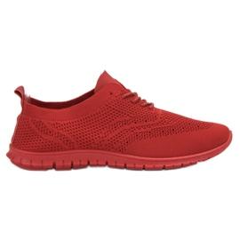 SHELOVET czerwone Tekstylne Buty Sportowe