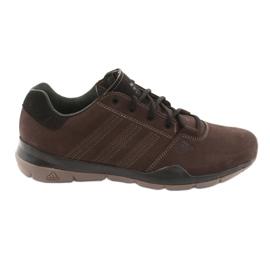Brązowe Buty trekkingowe adidas Anzit Dlx M18555