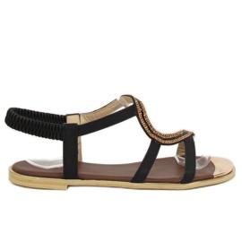 Sandałki asymetryczne czarne GD4157 Black