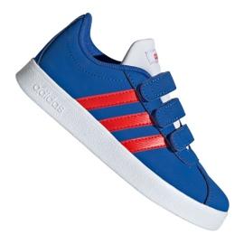 Niebieskie Buty adidas Vl Court 2.0 Cmf C Jr EE6904