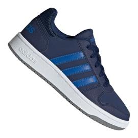 Granatowe Buty adidas Hoops 2.0 K Jr EE8999
