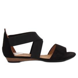 Sandałki damskie czarne 7434 Black