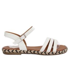 Sandałki damskie białe M531 White