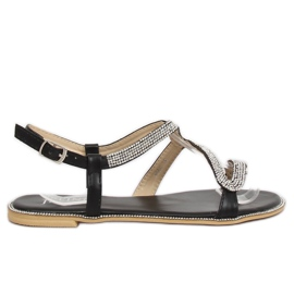 Sandałki z wężem czarne H560 Black