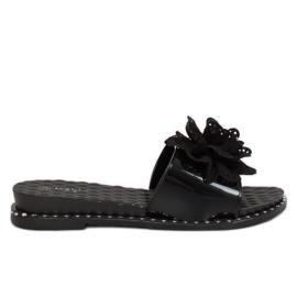 Klapki damskie czarne 38822 Black