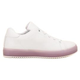 SHELOVET białe Wygodne Buty Sportowe
