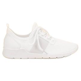 SHELOVET białe Wsuwane Buty Sportowe