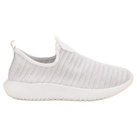 SHELOVET Wsuwane Białe Buty Sportowe