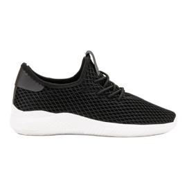 SHELOVET czarne Buty Sportowe Z Siateczką