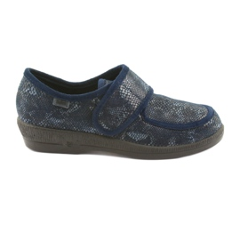 Granatowe Befado obuwie damskie pu 984D015