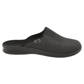 Szare Befado obuwie męskie pu 548M016