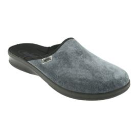 Szare Befado obuwie męskie pu 548M017