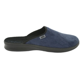 Niebieskie Befado obuwie męskie pu 548M018