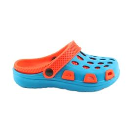 Klapki Aqua-speed niebieskie pomarańczowe