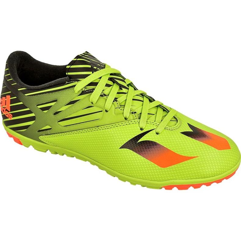 Buty piłkarskie adidas Messi 15.3 Tf M S74696 zielony zielone