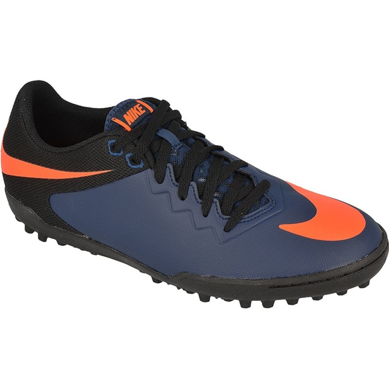 Buty piłkarskie Nike HypervenomX Pro Tf M 749904-480 niebieski, czarny, granatowy, pomarańczowy granatowe