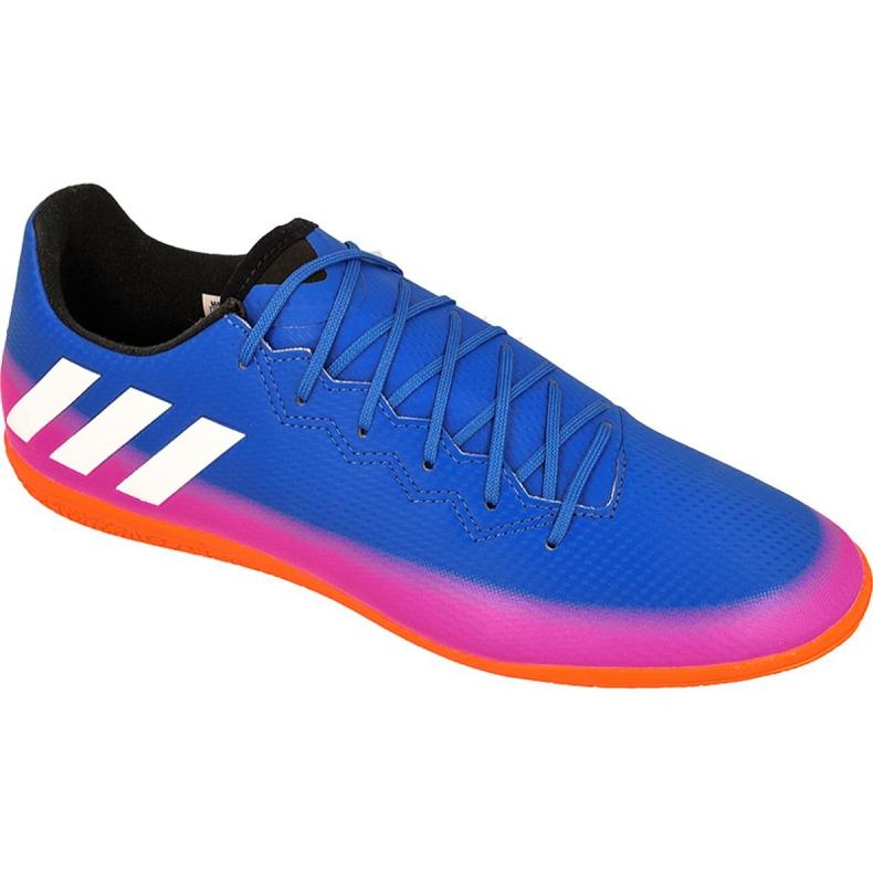 Buty halowe adidas Messi 16.3 In M BA9018 niebieskie niebieskie